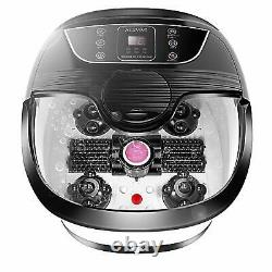 Acevivi Foot Spa Bath Massager Bubble Heat Led Display Infrared Relax Timer