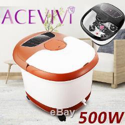 Acevivi Foot Spa Bath Massager Rouleaux De Chaleur Et Bulles Temp Minuterie 500w Us