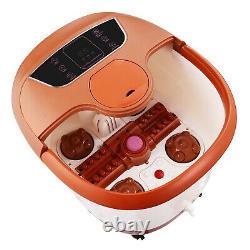 Acevivi Portable Pied Spa Bain Masseur Chaleur Écran LCD Relax Infrarouge Brun