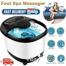 All In One Foot Spa Bain De Massage Avec La Chaleur, Motorisé Shiatsu Roller Et Bulles