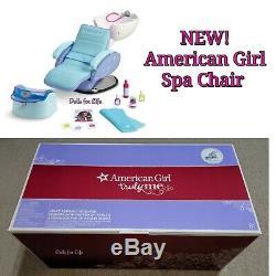 American Girl Doll Président Spa Salon Bleu Accessoires Bain De Pieds Sounds Eau Nouveau
