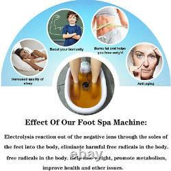 Baignoire Ionique Detox Foot Spa Machine Cleaner Toxines Corps Avec100 Liners De Bassin 6 Array