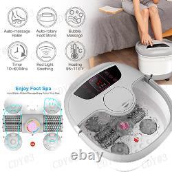 Bain De Pieds + Heat & Massage & Bubbles Foot Spa Massager + Motorisé Massage Shiatsu Balle