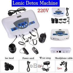 Bain De Pieds Ionique À Double Utilisateur Ion Spa Cell Machine Machine Cleanse Mp3 Arrays Earphone