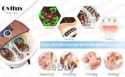 Bain Spa Pied Avec Chaleur Et Massage Et Bulles, Masseur Bain Pied Avec 16 Brun