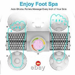 Bain Spa Pour Les Pieds Avec Bulles De Chaleur Et De Massage Avec Haut De Balle De Massage Shiatsu Motorisé