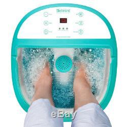 Belmint Foot Spa Bain De Massage Avec Caractéristiques Chaleur, Pied Tremper Baignoire, Bulles Et