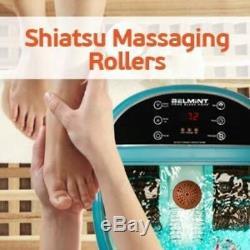 Belmint Foot Spa Massager Machine À Chaleur Bain Bulles Écran LCD Fatigue Soulager