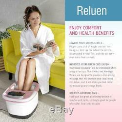 Chauffée Foot Spa Baignoire Jacuzzi Pédicure Soaker Avec Massage Électrique Hea