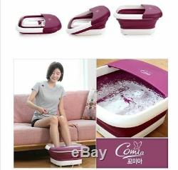 Comia Pliable Bain De Pieds Spa Massager Chaleur Bubble Thermique Vibration Eau I G