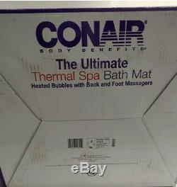 Conair Mbts4sr The Ultimate Full Body Thermal Spa Tapis De Bain Et De Massage Des Pieds Withback