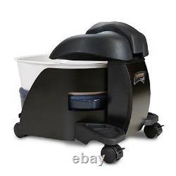 Continuum Pedicute Portable Pedicure Spa Chaleur Et Vibrat Black Wood White Bowl