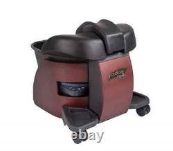 Continuum Pedicute Portable Pedicure Spa Chaleur Et Vibrate Cherry Wood Black Bowl