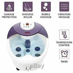 Dans Un Grand Spa De Bain De Pieds Masseur Rolling Massage, Chaleur, Hf Vibration