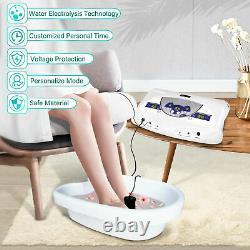Detox Bain De Pied Double Ionique Cellule Relax Spa Massager Machine LCD Mp3 Lecteur De Musique