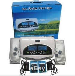 Detox Ionique Double Pied Machine Avec Wristband, Ion Foot Spa, Bain De Pieds, Ion Cleanse