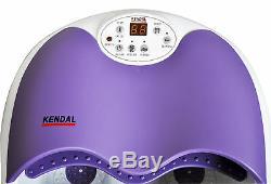 Digital Foot Spa Bath Massager Motorisé Roulant Chaleur Bulles D'eau Chute 1023