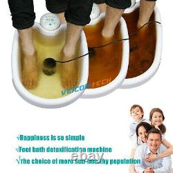 Double Chi Detox Ionique Baignoire De Bain De Pied Machine De Nettoyage Avec Bassin Grand LCD 5 Modes