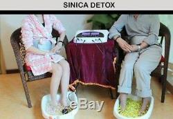 Double Detox Ionique Nettoyer Bain De Pieds Spa Aqua Spa Machine 4 Tableaux Acupuncture Pad