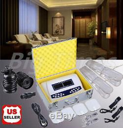 Double Utilisateur Bain De Pieds Spa Ionique Machine De Désintoxication Cellulaire Cleanse Couleur Écran LCD
