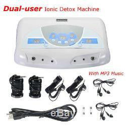 Double Utilisateur Detox Ionique Bain De Pieds Spa Ion Machine Cellulaire Cleanse Mp3 Arrays Nouvelles