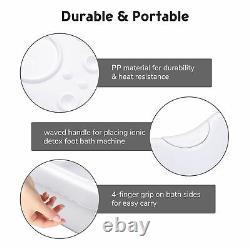 Double Utilisateur Ionic Detox Foot Bath Machine Tub Basin Kit Avec Arrays Massage Spa