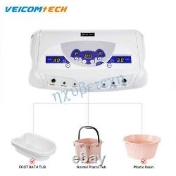 Double-usageurs Detox Bain De Pied Ionic Cell Massager LCD Mp3 Machine + 6 Arrays