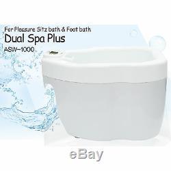 Dual Spa Plus Asw-1000 Sitz Bain Et Bain De Pieds Soin Des Pieds 2 En 1 Homedics 220v