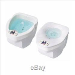 Dual Spa Plus Bain De Pieds Et Bain De Pieds Asw-1000 Sitz 2 En 1 220v Homedics Soins Pieds Hanches