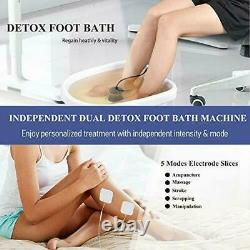 Dual User Foot Baignoire Spa Machine Coloed LCD Ionic Detox Cell Cleanse Optimum Kit