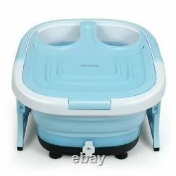 Durafoldable Pied Spa Baignoire Massager Motorisé Avecbubble Rouge Minuterie Heat-blue