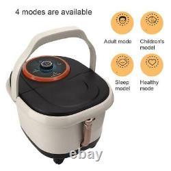 Electric Foot Spa Bath Massage Bubble Heating Vibration Pédicure Soak Tub Roller