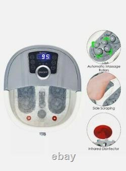 Electric Shiatsu Foot Spa Bath On Wheels Massagers Motorisés Portable Nouveau Dans La Boîte
