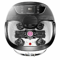 Ellectric Foot Massager Spa Bath Avec Massage Rollers Heat & Bubbles Temp Timer