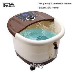 Ellectric Foot Massager Spa Bath Avec Rouleaux De Massage Bulles De Chaleur Temp Timer