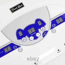 Foot Bath Spa Machine Dual User Ionic Detox Cell Cleanse Mp3 Avec Des Écouteurs Arrays