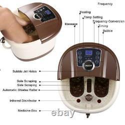 Foot Spa Bain De Massage Automatique Massage Rollers Chaleur Température Avec Roues Accueil