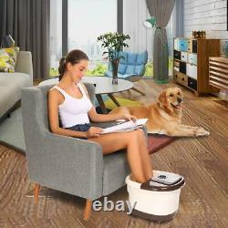 Foot Spa Bain De Massage Automatique Massage Rollers Chaleur Température Avec Roues USA