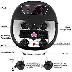 Foot Spa Bain De Massage Automatique Massage Rollers Chauffage Soaker Bucket Accueil États-unis
