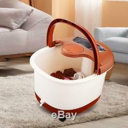 Foot Spa Bain De Massage Automatique Massage Rollers Chauffage Soaker Bucket In50