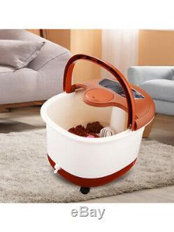 Foot Spa Bain De Massage Automatique Massage Rollers Chauffage Soaker Bucket Profess
