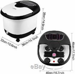 Foot Spa Bain De Massage Automatique Rouleaux De Chauffage Soaker Seau 500w Avec Htbm 01