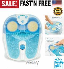 Foot Spa Bain De Massage Avec Chaleur Soaker Cascade Vibration Bubble Rouleau Relax