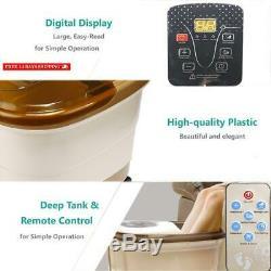 Foot Spa Bain De Massage Avec La Chaleur Et L'eau Jet Salon Électrique Pédicure Footbath