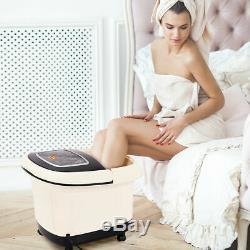 Foot Spa Bain De Massage Avec La Chaleur Vibration Tem / Time Set 4 Jets Roller & Bubble