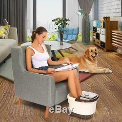 Foot Spa Bain De Massage Bubble Heat, 16 Pédicure Spa Motorisé Shiatsu Rouleau