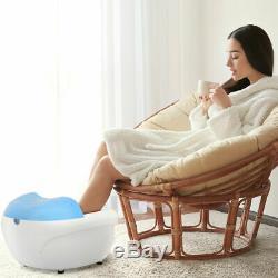 Foot Spa Bain De Massage Bubble Vibration Red Light Rouleaux À Main Accueil Cleaner