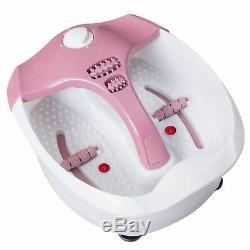 Foot Spa Bain De Massage Chaleur Massage Pédicure Pieds Vibrations Bain Soak Relax Rouleau