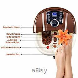 Foot Spa Bain De Massage Chaleur Pédicure Motorisé Shiatsu Rouleau Relax Pieds Orteils