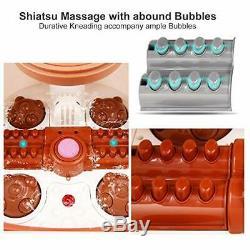 Foot Spa Bain De Massage Chauffant Et Massant Et Bubble Jets, Motorisé Shiatsu